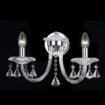 Calgary Crystal Wall Light CF112151/02/WB/CH