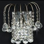 Shower Antique Nickel Wall Light with Crystal Ball Drops ST01800/WB/AN