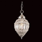 Crystal Beaded Silver Pendant CO01219S