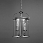 Orly Lantern Nickel Pendant Light LG77132/SN