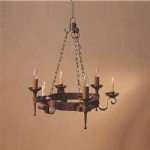 Refectory 3 Arm Aged Rustic Finish Pendant Light SMRR00003C/A