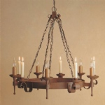 Refectory 5 Arm Aged Rustic Finish Pendant Light SMRR00005C/A