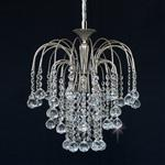 Shower Nickel Finish Crystal Ceiling Pendant ST01800/35/01/N