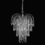 Shower Crystal & Nickel 6 Light Ceiling Pendant ST01900/47/06/AN