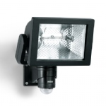 DUO Black PIR floodlight HS150 BK
