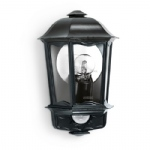 L190S Black Half lantern Wall Sensor Light L190S BK Black