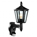 L15 Black Traditional PIR Wall Light