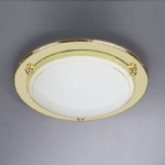 70700 16 01 Low Energy Polished Brass Flush Ceiling Light