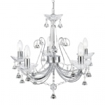 1395-5CC Lafayette Crystal Ceiling Light