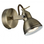 1541AB Focus Single spotlight Antique Brass