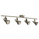 Focus LED Antique Brass Four Light Split Bar Spotlight 1544AB