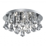 3304-4CC Hanna Crystal Light Chrome