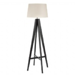 3540BR Dark Coloured Wooden Floor Lamp