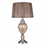 3721AM Chrome & Amber Urn Table Lamp