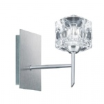 4341-1 Ice Cube Single Halogen Wall Light