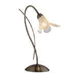 4491AB Lily Antique Brass Table Lamp