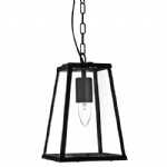 Lantern Pendant Light Fitting 4614BK