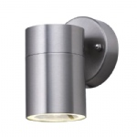 5008 1 Satin Silver Outdoor Wall Light