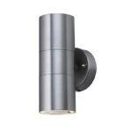 5008 2 Satin Silver Outdoor Wall Light
