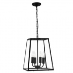 Black Lantern Pendant Fitting 5614BK
