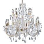 Marie Therese 12 Arm Brass and Clear Crystal Chandelier 699-12