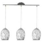 8069-3WH Crackle Pendant Light