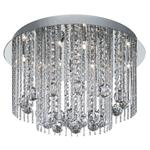 8088-8CC Flush Crystal and Chrome Light Fitting