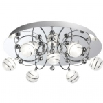 8657-7CC Bauble Semi Flush Light