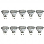 Pack Of 10 240v LED Green GU10 Lamps