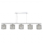 AGN0550 Agneta 5 Light Bar Crystal Pendant