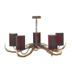ANT0599T Antler Rustic Ceiling Light