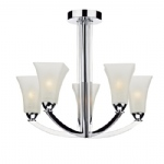 ARL0550 Arlington Semi-Flush Polished Chrome