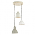 Blyton 3 Light Pendant Cream BLY0343