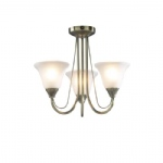 Boston Ceiling Light Antique Brass BOS03