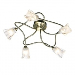 CIC5475 Cicero Antique Brass Ceiling Light