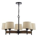 EWA0547 Five Light Multi-Arm Pendant Brown