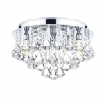Fringe Chrome Flush Light FRI0450