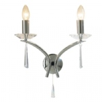 Hyperion Chrome and Crystal Double Wall Light HYP0950