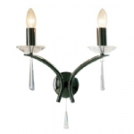 Hyperion Crystal and Black Chrome Double Wall Light HYP0967