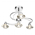 Luther 4 Arm Semi Flush Light