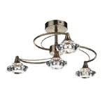 Luther Ceiling Light Antique Brass LUT0475