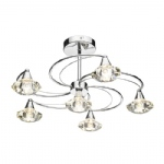 Luther 6 arm Semi Flush Light
