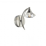 Luther Wall Light Satin Chrome LUT0746