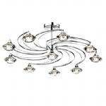 Luther 10 Light Polished Chrome Semi Flush Ceiling Fitting LUT2350