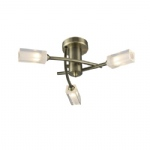 Morgan 3 Arm Antique Brass Ceiling light MOR0375