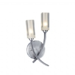Morgan Satin Chrome Double Wall Light MOR0946