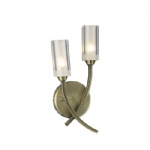 Morgan Antique Brass Double Wall light MOR0975
