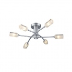 Morgan 6 Arm Satin Chrome Ceiling light MOR6446
