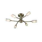 Morgan Antique Brass 6 Arm Ceiling light MOR6475