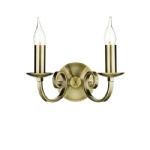 Murray Antique Brass Double Wall Light MUR0975